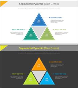 구분 된 피라미드 다이어그램 (파란색 녹색)_00