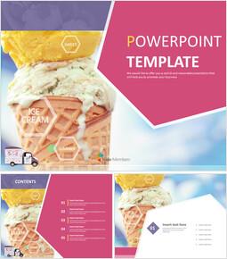 달콤한 아이스크림 - 무료 PowerPoint 템플릿_00
