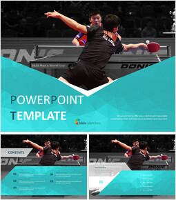 Table Tennis Game - Free Powerpoint Template_6 slides
