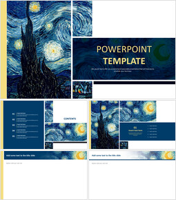 "Vincent Van Gogh ""The Starry Night"" - Free Powerpoint Template_00"
