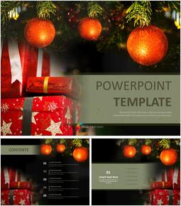 크리스마스 선물 - 무료 파워포인트 샘플_00