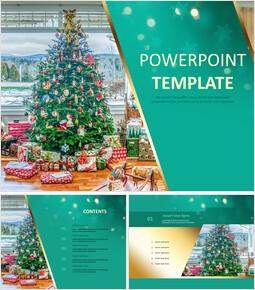 クリスマスツリー - 無料PowerPointのテンプレートデザイン_00