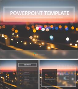 번쩍이는 빛 - 무료 PowerPoint 템플릿_00