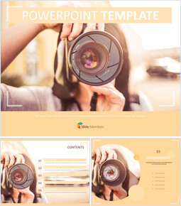 A Woman Who Takes a Picture - Free PPT Template_00