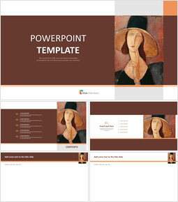 """Amedeo Modigliani """"큰 모자에있는 Jeanne Hebuterne의 초상화"""" - 무료 디자인 템플릿_00"""