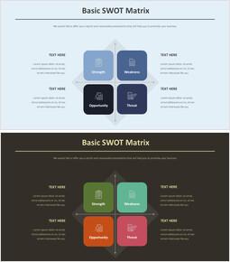 기본 SWOT 매트릭스 다이어그램_00