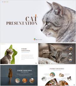 고양이 프레젠테이션 PowerPoint 템플릿 디자인_00