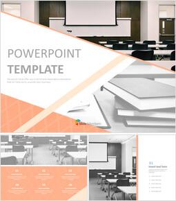 교실과 책 - 무료 PPT 샘플_00