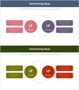 Contrasting Ideas Diagram_2 slides