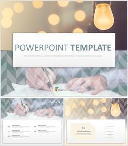 창의성과 회사 업무 - 무료 PowerPoint 템플릿 디자인_00