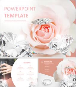 다이아몬드 반지 - 무료 PowerPoint 템플릿_00