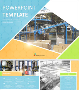 Distribution Movement Warehouse - Free Presentation Templates_00