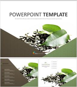 말린 차잎 - 무료 PowerPoint 템플릿_00