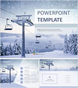 무료 파워포인트 샘플 - 스키 리조트_00