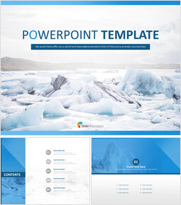 Free Powerpoint Sample - Glacier of North Pole_00