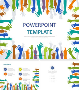 Free Powerpoint Sample - Stretching Hands_00