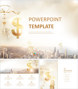 Free Powerpoint Template - A City and Financial_00