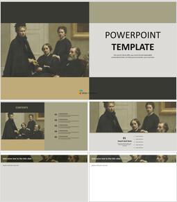 """무료 PowerPoint 템플릿 - Henri Jean Theodore Fantin Latour """"LA Famille Dubourg""""_00"""