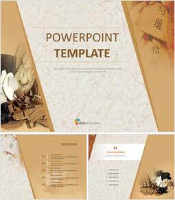 Free Powerpoint Template - Herbal medicine_6 slides
