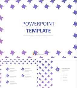 무료 PowerPoint 템플릿 - 라이트 퍼플 바람개비 패턴_00