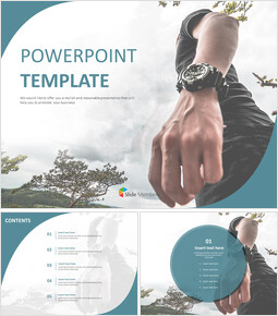 Free Powerpoint Templates Design - A Walking Mans Hand_6 slides