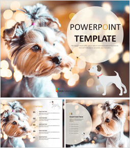 Free Powerpoint Templates Design - Adorable Puppy_6 slides