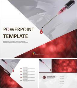 무료 PowerPoint 템플릿 디자인 - 헌혈_00