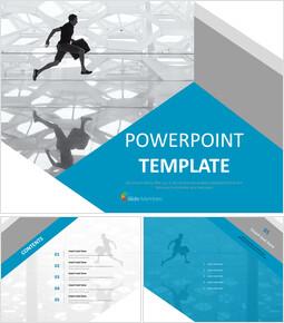 무료 PowerPoint 템플릿 디자인 - 현대 생활에 바쁜 사람들_00