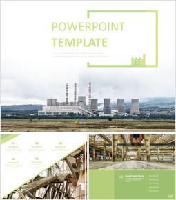 무료 PowerPoint 템플릿 디자인 - 환경 친화적인 공장_00