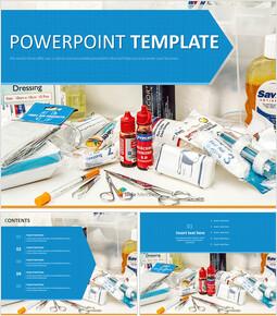Free Powerpoint Templates Design - First Aid Supplies_6 slides