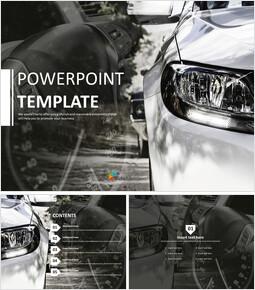 무료 PowerPoint 템플릿 디자인 - 고급 자동차_00