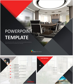 Free Powerpoint Templates Design - Interior for Offices_00