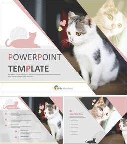 Free Powerpoint Templates Design - Pet Cat_00