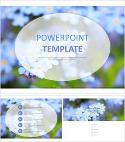 무료 PowerPoint 템플릿 디자인 - 하늘색 꽃_00