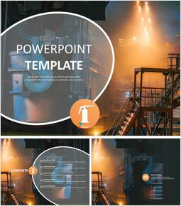 무료 PowerPoint 템플릿 디자인 - 철강 제조_00