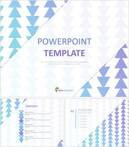 무료 PowerPoint 템플릿 디자인 - 그라데이션 패턴 삼각형_00