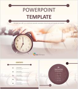 무료 PowerPoint 템플릿 디자인 - 알람시계_00