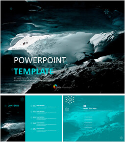 Free Powerpoint Templates Design - Winter Cave_00
