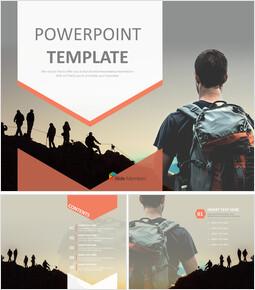 Free PPT Sample - Mountain-climbing people_6 slides