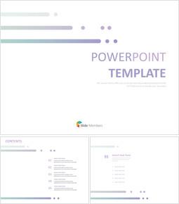Free ppt Sample - Purple simple Line_6 slides
