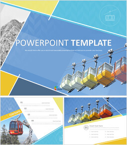Free PPT Template - A Cable Car_6 slides