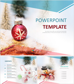 Free PPT Template - Christmas Ornaments_00