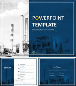 Free PPT Template - Factories and Chimneys_00