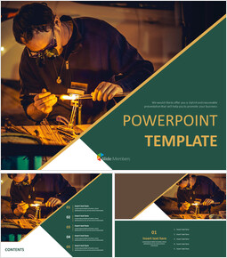 Free PPT Template - Glass Craftsmen_00
