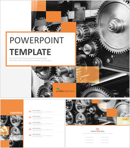 Free PPT Template - Machine Industry_00