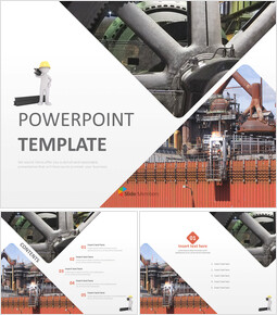 Free PPT Template - Steel Factory_00