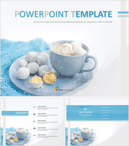 Free PPT Template - Warm CocoA_6 slides