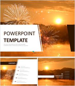 Free Presentation Templates - A New-Year\'s Sunrise_6 slides
