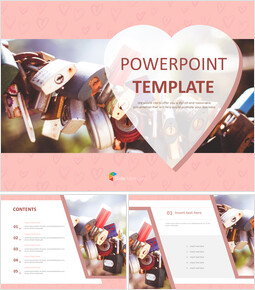 Free Presentation Templates - key With Love_6 slides
