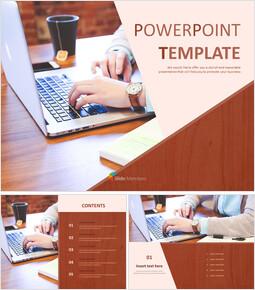 무료 템플릿 디자인 - 비즈니스 및 노트북_00